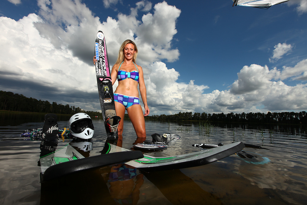 Clem Lucine photographed for Waterski Magazine in Orlando, Florida on September 19, 2011.