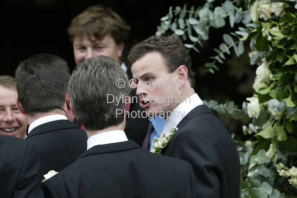 24/8/2002.The Groom David Watchman pictured arriving to the Augustinian Abbey in Fethard.Picture Dylan Vaughan