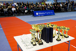 Trophies at Tennis exhibition day and Slovenian Tennis personality of the year 2013 annual awards presented by Slovene Tennis Association TZS, on December 21, 2013 in BTC City, TC Millenium, Ljubljana, Slovenia.  Photo by Vid Ponikvar / Sportida