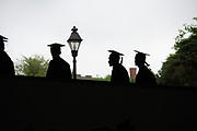 Students participate in undergraduate commencement ceremonies. Photo by Ben Siegel