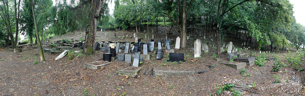 Panoramic view of the Jewish Cemetery in Povazka Bystrica, Slovakia on Sunday July 3rd 2011. (Photo by Brian Garfinkel)