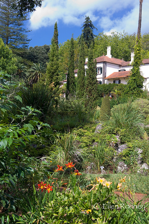 The house and garden at Quinto do Palheiro Ferreiro (Blandy's Garden) near Monte,<br /> Madeira, Portugal