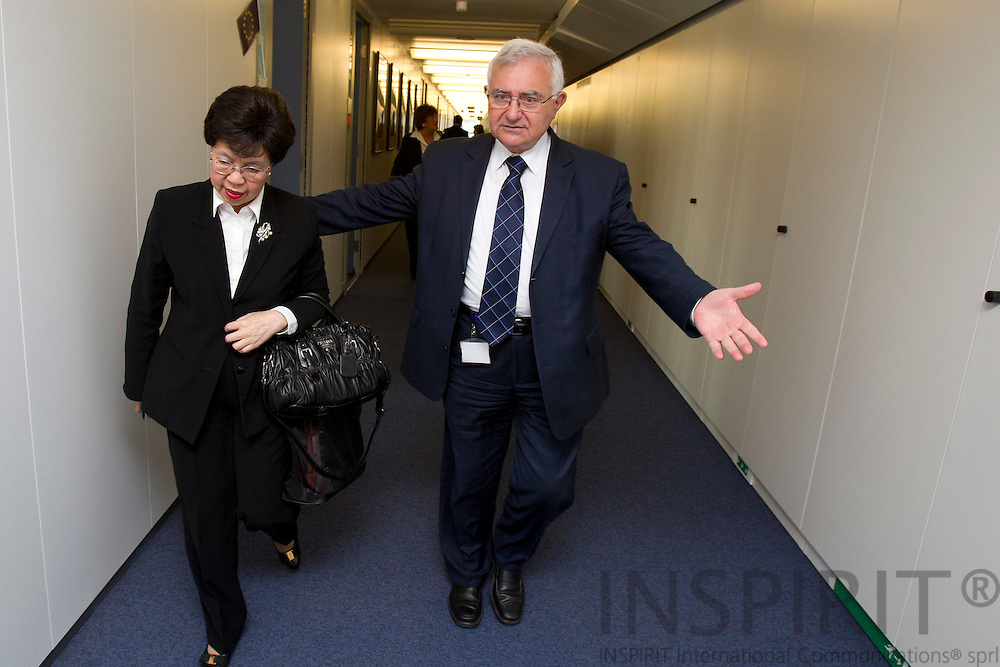 Dr. Margaret Chan, Director-General, WHO, and John Dalli, EU-Commisioner for Health, after their meeting at the commission in connection with World Health Organization and European Commission Summit in Brussels Friday 25 March 2011. PHOTO: ERIK LUNTANG / INSPIRIT Photo.