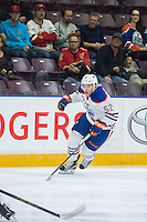 PENTICTON, CANADA - SEPTEMBER 17: Patrick Russell #52 of Edmonton Oilers skates against the Calgary Flames on September 17, 2016 at the South Okanagan Event Centre in Penticton, British Columbia, Canada.  (Photo by Marissa Baecker/Shoot the Breeze)  *** Local Caption *** Patrick Russell;