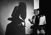 Nederland, Nijmegen, 15-3-1993 Lingerieontwerpster Marlies Dekkers tijdens een discussieavond over vrouw en mode in cultureel centrum O42.Foto: Flip Franssen/Hollandse Hoogte
