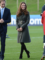 Burton on Trent, UK: The Duke and Duchess of Cambridge officially open St George's Park, England's new National Football Centre, Burton on Trent, UK, on the 9th October 2012.