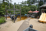 flooding of the Abita River in Abita Springs Park and Playground on August 13, 2016