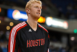 March 7, 2011; Sacramento, CA, USA;  Houston Rockets small forward Chase Budinger (10) warms up before the game against the Sacramento Kings at the Power Balance Pavilion. Houston defeated Sacramento 123-101.