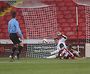 Kyle Letheren saves from Sheffield United's Otis Khan - Sheffield United v Dundee, pre season friendly at Bramall Lane<br /> <br />  - &copy; David Young - www.davidyoungphoto.co.uk - email: davidyoungphoto@gmail.com