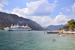 Marella Celebration cruise ship, operated by the holiday company TUI, Kotor, Montenegro, July 2018.