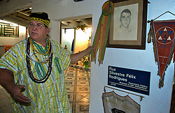 Tenda espiríta - Centro Espiríta Luz e Caridade a mais antiga casa de umbanda do Brasil, tendo como zelador de santo o Pai Aureo de Ogun bis neto da fundadora.  FOTO: Itamar Aguiar/Preview