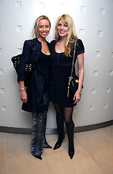 Left to right NOELLE RENO and MEREDETH OSTROM at a lunch hosted by Fawaz Gruosi to celebrate the launch of De Grisogono's latest watch 'Be Eight' held at Nobu, 19 Old Park Lane, London W1 on 30th November 2006.<br />
