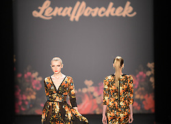 Models present creations by Austrian designer Lena Hoschek during the Autumn/Winter 2013 shows of the Mercedes-Benz Fashion Week, in Berlin, Germany, Jan. 15, 2013. The Berlin Fashion Week takes place here from Jan. 15 to 20, 2013,  January 15, 2013. Photo by Imago / i-Images...UK ONLY