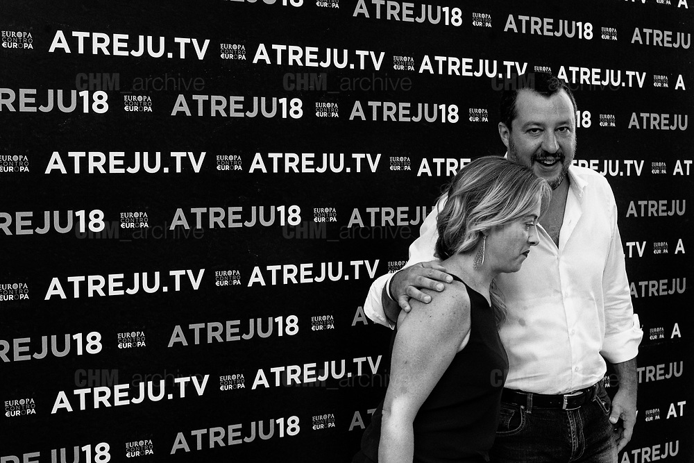 Matteo Salvini and Giorgia Meloni at 'Atreju' event organized by Fratelli d'Italia, italian right wing party. Rome 22 september 2018. Christian Mantuano / OneShot