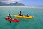 Kayking, Kaneohe Bay, Oahu, Hawaii<br />