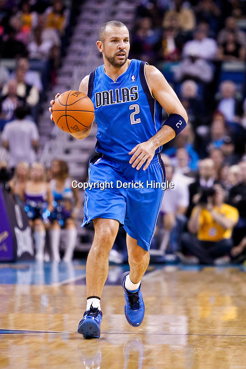 November 17, 2010; New Orleans, LA, USA; Dallas Mavericks point guard Jason Kidd (2) against the New Orleans Hornets during the first half at the New Orleans Arena. Mandatory Credit: Derick E. Hingle
