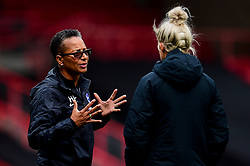 Brighton and Hove Albion Women manager Hope Powell prior to kick off - Mandatory by-line: Ryan Hiscott/JMP - 07/09/2019 - FOOTBALL - Ashton Gate - Bristol, England - Bristol City Women v Brighton and Hove Albion Women - FA Women's Super League