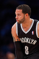 20 November 2012: Guard (8) Deron Williams of the Brooklyn Nets against the Los Angeles Lakers during the first half of the Lakers 95-90 victory over the Nets at the STAPLES Center in Los Angeles, CA.