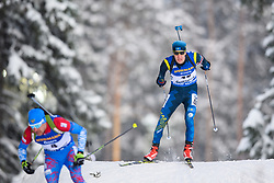 March 9, 2019 - –Stersund, Sweden - 190309 Timur Kuts of Kazakhstan competes in the Men's 10 KM sprint during the IBU World Championships Biathlon on March 9, 2019 in Östersund..Photo: Petter Arvidson / BILDBYRÃ…N / kod PA / 92252 (Credit Image: © Petter Arvidson/Bildbyran via ZUMA Press)