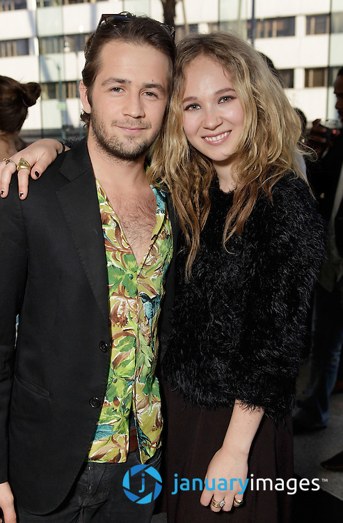 "BEVERLY HILLS, CA - JUNE 06:  Michael Angarano and Juno Temple attend a Fox Searchlight screening Of ""The Art Of Getting By"" at Clarity Theater on June 6, 2011 in Beverly Hills, California.  (Photo by Todd Williamson/WireImage)"