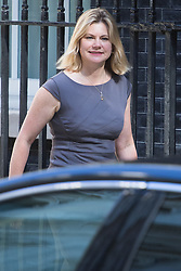 Downing Street, London, July 19th 2016. Education Secretary Justine Greening arrives at the first full cabinet meeting since Prime Minister Theresa May took office.