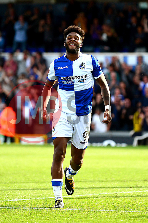 Ellis Harrison of Bristol Rovers celebrates scoring a goal - Mandatory by-line: Dougie Allward/JMP - 23/09/2017 - FOOTBALL - Memorial Stadium - Bristol, England - Bristol Rovers v Blackpool - Sky Bet League One