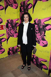 "BIANCA JAGGER at an exhibition of work by Andy Warhol entitled ""Other Voices, Other Rooms"" at The Hayward Gallery, Southbank Centre, London SE1 on 6th October 2008."