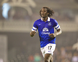 LONDON, ENGLAND - Tuesday, September 24, 2013: Everton's Romelu Lukaku in action against Fulham during the Football League Cup 3rd Round match at Craven Cottage. (Pic by David Rawcliffe/Propaganda)