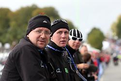 Martin Hvastija, Bostjan Kavcnik and Tomaz Poljanec during the Men´s Under 23 Road Race on day five of the UCI Road World Championships on September 23, 2011 in Copenhagen, Denmark. (Photo by Marjan Kelner / Sportida Photo Agency)