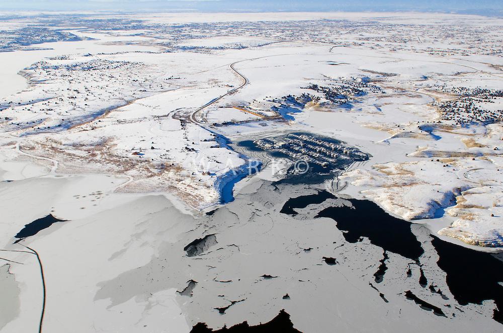 Frozen Lake Pueblo, Colorado.  Feb 2014. 70621