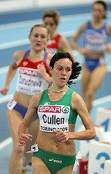 Mary Cullen of Ireland at 3000m women at the 2nd day of  European Athletics Indoor Championships Torino 2009 (6th - 8th March), at Oval Lingotto Stadium,  Torino, Italy, on March 6, 2009. (Photo by Vid Ponikvar / Sportida)