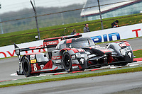 Lucas Di Grassi (BRA) / Loic Duval (FRA) / Oliver Jarvis (GBR) #8 Audi Sport Team Joest  Audi R18 e-tron quattro, during Free Practice 1  as part of the WEC 6 Hours of Silverstone 2016 at Silverstone, Towcester, Northamptonshire, United Kingdom. April 15 2016. World Copyright Peter Taylor. Copy of publication required for printed pictures.