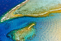 The New Caledonia Barrier Reef (the second longest double-barrier reef in the world, a UNESCO World Heritage Site) off Noumea on Grand Terre, New Caledonia.