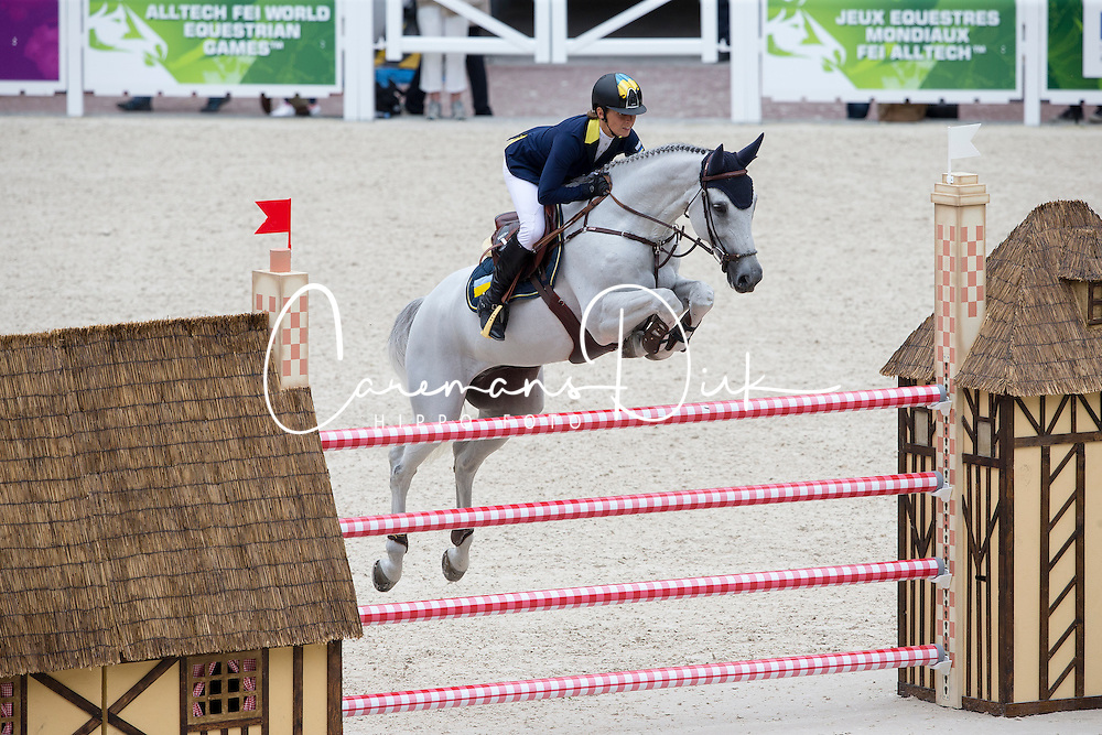 Katharina Offel, (UKR), Charlie - Team & Individual Competition Jumping Speed - Alltech FEI World Equestrian Games™ 2014 - Normandy, France.<br /> © Hippo Foto Team - Leanjo De Koster<br /> 02-09-14