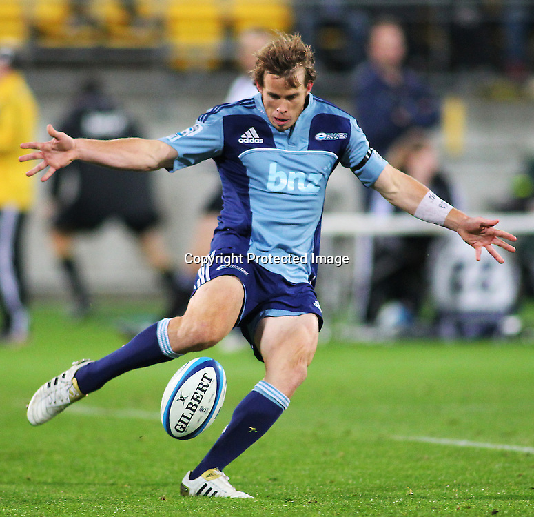 Lachie Munro in action during their Super Rugby match, Hurricanes v Blues, Westpac stadium, Wellington, New Zealand. Friday 4 May 2012.  PHOTO: Grant Down / photosport.co.nz