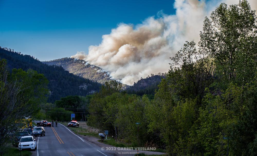 Tres Lagunas Wildfire, in the Pecos Canyon.