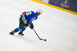 Luka Kalan during Ice Hockey match between National teams of Slovenia and Belarus at International tournament Euro ice hockey Challenge 2019, on February 9, 2019 in Ice Arena Bled, Slovenia. Photo by Peter Podobnik / Sportida