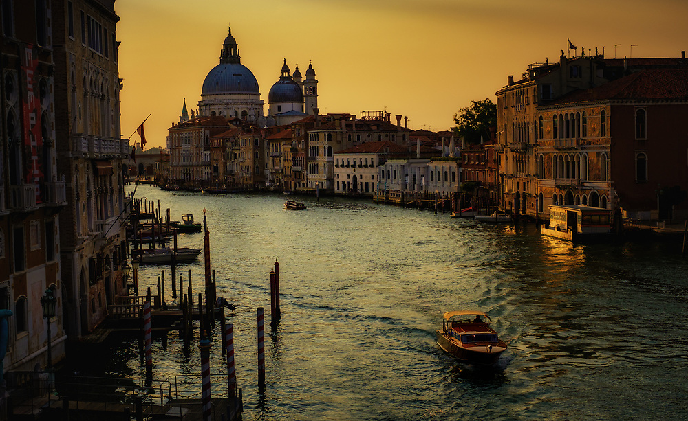 Dawn View, The Ponte dell'Accademia, Venice, Italy