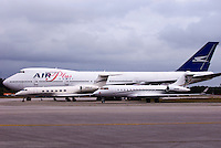 Air Plus Comet Passenger Aircraft along side smaller corporate jets.