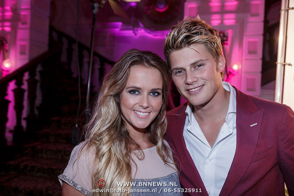 NLD/Amsterdam/20131111 - Beau Monde Awards 2013, Tim Douwsma en Monique Smit