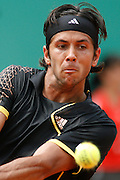 Roland Garros. Paris, France. June 4th 2007..Fernando VERDASCO against Novak DJOKOVIC..