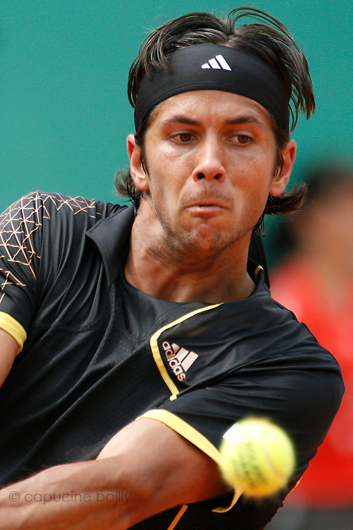Roland Garros. Paris, France. June 4th 2007..Fernando VERDASCO against Novak DJOKOVIC..