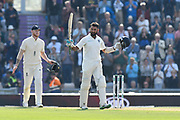 100 for Cheteshwar Pujara of India - Cheteshwar Pujara of India celebrates scoring a century during day two of the fourth SpecSavers International Test Match 2018 match between England and India at the Ageas Bowl, Southampton, United Kingdom on 31 August 2018.
