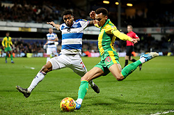 West Bromwich Albion's Jacob Murphy (right) in action with Queens Park Rangers' Darnell Furlong during the Sky Bet Championship match at Loftus Road, London.