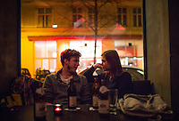 Vienna, Austria- November 22, 2014: Friends chat at If Dogs Run Free, a hipster haunt on Gumpendorferstrasse. CREDIT: Chris Carmichael for The New York Times