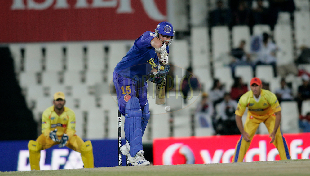 CENTURION, SOUTH AFRICA - 30 April 2009.  during the  IPL Season 2 match between the Rajasthan Royals and the Chennai Superkings held at  in Centurion, South Africa..Rajasthan Royals player Gream Smith in action