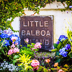 Little Balboa Island Sign picture. Little Balboa Island is part of Balboa Island in Newport Beach, Orange County, California.