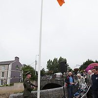 National Flag raised to full mast by Lieutenant Eoin Troy, Irish Defence Forces