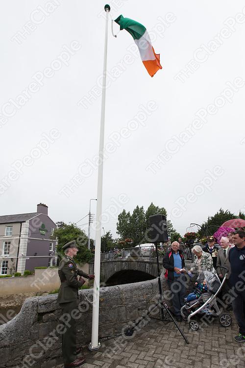 National Flag raised to full mast by Lieutenant Eoin Troy, Irish Defence Forces