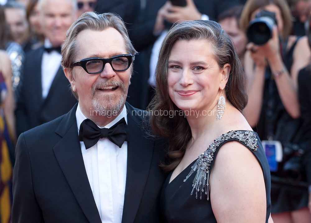 Gary Oldman and Gisele Schmidt at the Capharnaüm (Cafarnaúm)  gala screening at the 71st Cannes Film Festival, Thursday 17th May 2018, Cannes, France. Photo credit: Doreen Kennedy